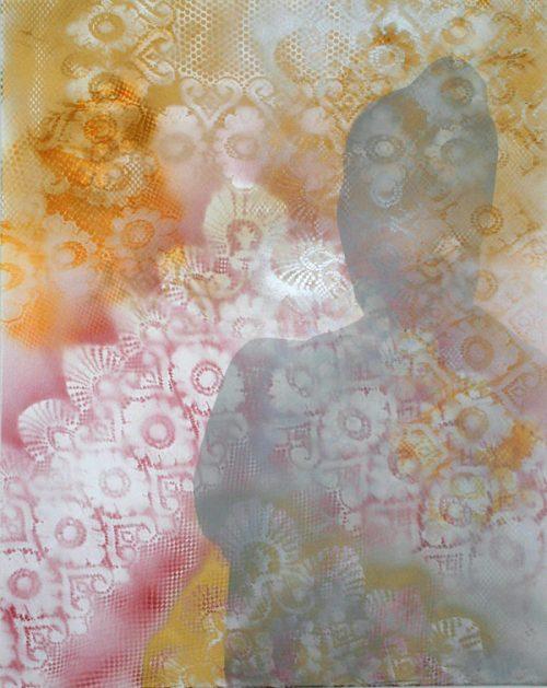 Schatten einer Faru, Acryllack auf Leinwand, 80 x 100 cm